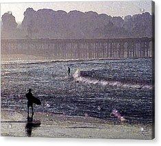 Bringing It Into Shore Acrylic Print by Ron Regalado