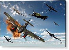 British Hawker Hurricane Aircraft Acrylic Print by Mark Stevenson