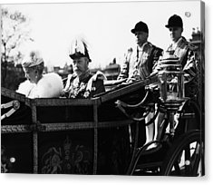British Royal Family. In Coach British Acrylic Print by Everett