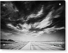 broadway bridge over the South Saskatchewan river Saskatoon Canada Acrylic Print by Joe Fox