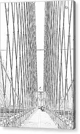Brooklyn Bridge Acrylic Print by Alan Clifford