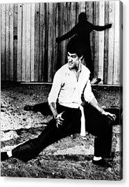 Bruce Lee (1940-1973) Acrylic Print by Granger