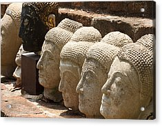 buddha statue in Thailand Acrylic Print by Thanawat  Wongsuwannathorn