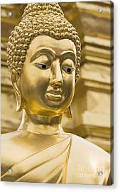 Buddha's Statue Acrylic Print by Roberto Morgenthaler