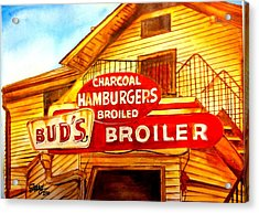 Bud's Broiler Acrylic Print by Terry J Marks Sr