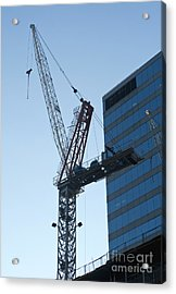 Building Crane Acrylic Print by Blink Images