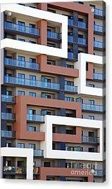 Building Facade Acrylic Print by Carlos Caetano