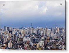 Buildings Of Downtown Sao Paulo Acrylic Print by Jeremy Woodhouse