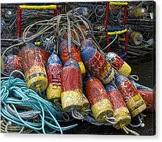 Buoys And Crabpots On The Oregon Coast Acrylic Print