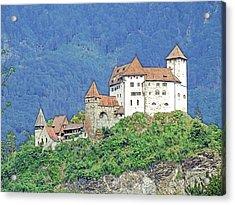Burg Gutenberg Balzers Litchtenstein Acrylic Print by Joseph Hendrix
