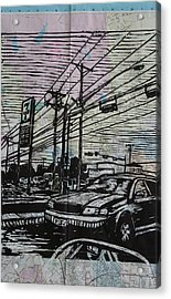 Burnet Road Acrylic Print by William Cauthern