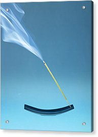 Burning Incense Acrylic Print by Lawrence Lawry