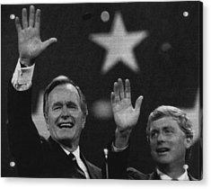 Bush Sr. Presidency. Vice President Acrylic Print by Everett
