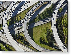 Busy Freeway Interchange Acrylic Print by Don Mason