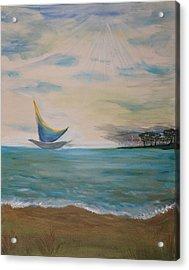 Butterfly Sails Acrylic Print by Tifanee  Petaja