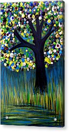 Acrylic Print featuring the painting Button Tree 0005 by Monica Furlow