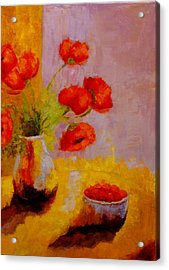 Acrylic Print featuring the painting By The Light by Marie Hamby