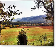 Acrylic Print featuring the photograph Cades Cove by Janice Spivey