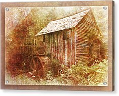 Cade's Grist Mill Acrylic Print by Barry Jones
