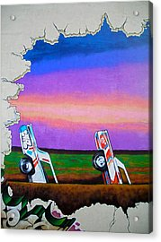 Cadillac Ranch - Montreal Acrylic Print