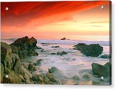 California Beach Sunset Acrylic Print