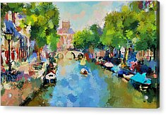 Canals Of Amsterdam Acrylic Print by Yury Malkov