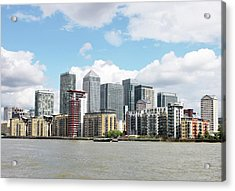 Canary Wharf Acrylic Print by Richard Newstead