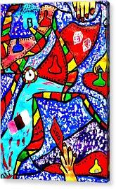 Candyland Acrylic Print by Eliezer Sobel