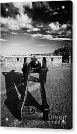 Cannon On Church Bastion Facing Out On The 17th Century Walls Of Derry Acrylic Print by Joe Fox