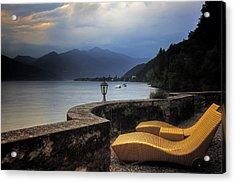 Canvas Chairs Acrylic Print by Joana Kruse