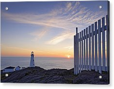 Cape Spear Lighthouse At Sunrise, Cape Acrylic Print by Yves Marcoux