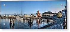 Cardiff Bay Panorama Acrylic Print by Steve Purnell