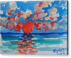 Caribe Sunset Acrylic Print