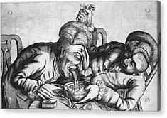 Caricature Of Two Alcoholics, 1773 Acrylic Print by Science Source