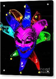 Acrylic Print featuring the digital art Carnival Mask by Blair Stuart