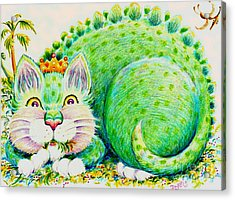 Acrylic Print featuring the drawing Catasaurus Rex by Dee Davis