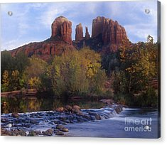 Cathedral Rock Acrylic Print by Darleen Stry