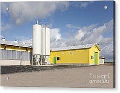 Cattle Feeding Tanks Acrylic Print by Jaak Nilson