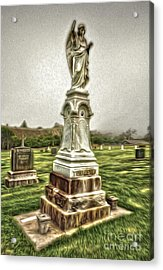Cayucos Cemetery - 01 Acrylic Print by Gregory Dyer