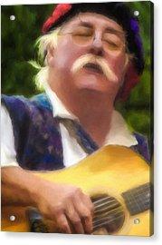 Celtic Folk Singer Acrylic Print by Jill Balsam