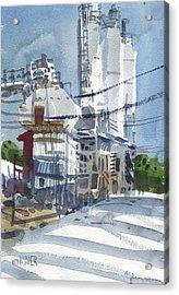 Cement Hopper Acrylic Print by Donald Maier