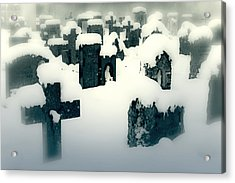 Cemetery Acrylic Print by Joana Kruse