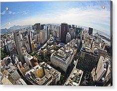 Centro Do Rio De Janeiro - Rio De Janeiro Downtown Acrylic Print by Ruy Barbosa Pinto