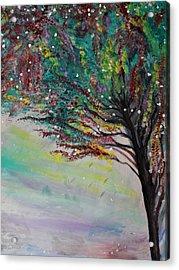 Change Of Falls' Sparkle Acrylic Print by Tifanee  Petaja