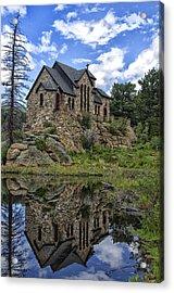 Chapel On The Rock Acrylic Print by Michael Krahl