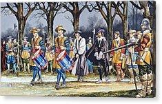 Charles I's Last Walk Acrylic Print by Ron Embleton