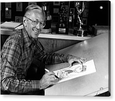Charles M. Schulz, 1922-2000, American Acrylic Print by Everett