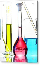 Chemistry Glass-ware Acrylic Print by Gombert, Sigrid