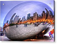 Chicago Bean Acrylic Print by Mark Currier