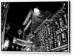 Chinatown At Night Acrylic Print by Tanya Harrison